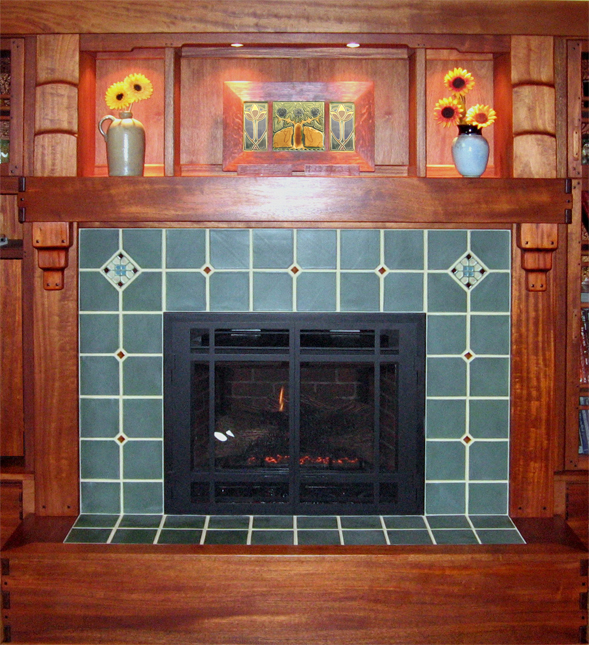 Np Tile Collection Installations Fireplace Arts Crafts Mantle