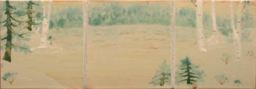 Hand Painted Lake Scene